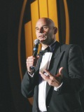 Cirque du Soleil founderGuy Laliberté accepts his award for World Entrepreneur of the Year in June 2007. He's the only Canadian to have won this award.
