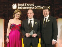 Left to Right: Ernst & Young's Canadian entrepreneurial services leader, Colleen McMorrow, president and CEO of Canada Goose Inc., Dani Reiss, and Trent Henry, chairman and CEO of Ernst & Young Canada.