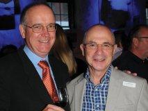 Steven Campbell (owner Lifford Wine Agency) with wine guru Tony Aspler.