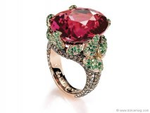 Complete the perfect outfit with the perfect accent — an opulent ruby ring by De Grisogono. www.degrisogono.com