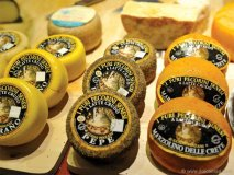 The finest Italian cheeses are offered up to enjoy.