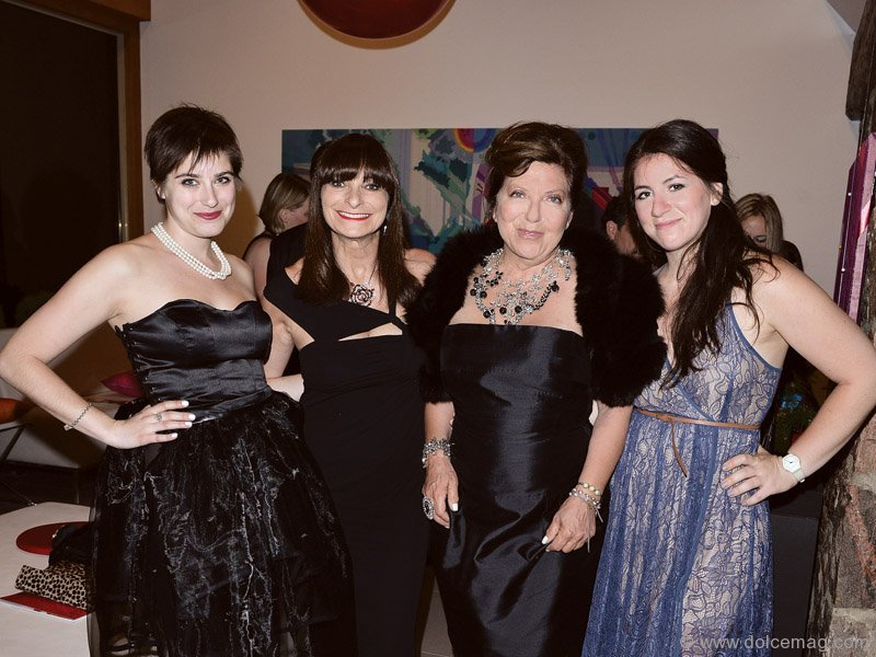 Jeanne Beker, Fashion as Art: Exposed! emcee with daughter Bekky Beker and Robin Kay, president of the Fashion Design Council of Canada, with daughter Zoe Kay