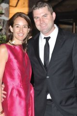 McMichael board member and Fashion as Art: Exposed! committee member Meegan Guest with husband, Chris Hirsch