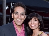 Chair of the McMichael Board of Trustees,  Upkar Arora, with wife Nita Arora