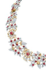 Rub shoulders with Jean Schlumberger's stunning conique necklace, swathed in exquisite diamonds and red spinels set in 18-karat gold and platinum.