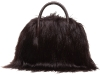 Furry and Fierce: Have all the attention on you with this soft, stylish satchel by Laura Buccellati. Its fine leather handle feature adds a touch of character.