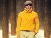 Refined and unforgettable, Corneliani's style is handsome yet relaxed. This stunning yellow sweater and paperboy hat are perfect for any time of day.