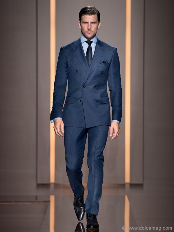 Fashion tips from aficionado larry rosen dolce luxury for Navy suit gray shirt