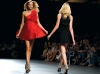 Models make the right move on  the runway in Elisa Palomino's cocktail wear.