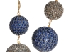 Pavé Drop Earrings: An endless array of sapphires and diamonds rival the evening's twinkling twilight on these gorgeous pavé drop earrings.