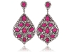 Sutra Earrings: These eye-catching Sutra earrings rest bold pink tourmaline gems on a fantastic field of petite diamonds. Become a Jewel of India with these fabulous accessories.