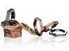 Montblanc emblem-shaped, diamond-studded rings