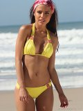 LEMON ZEST: Brazilian-inspired, this bright bathing suit is the perfect design to flatter your figure in a flirty and feminine way. www.anikabrazil.com.br