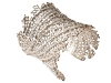 SILVER SEA: Make a casual beachside look eye-catching with this trendy yet elegant cuff designed by Wynn Wynn Ong. www.vivre.com