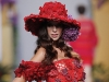 Fashion was in full bloom as this red rose ensemble lit up the runway at the Madrid Fashion Week.