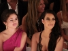 The vibe was festive as Kourtney, Khloe and Kim Kardashian, along with Selena Gomez, admired bikini fashions at the Beach Bunny Swimwear 2011 Fashion Show for the Mercedes-Benz Fashion Week Swim at the Raleigh in Miami Beach, Florida.