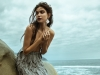 Look 2: The mystery and magic of mermaids are captured in this whimsical sea-grey, silver-trimmed skirt / Skirt: Afffair, Earrings: Jude Benhalim Jewelry via tata-la.com | Photography by Thomas Louvagny