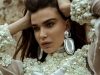 Look 5: Elegance redefined by furls of pearls and dramatic silver statement earrings / Dress: Vitor Zerbinato, Earrings: Natia Khutsishvili via tata-la.com | Photography by Thomas Louvagny