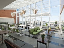 The 45,000 sq. ft. space is complete with natural light and spacious seating
