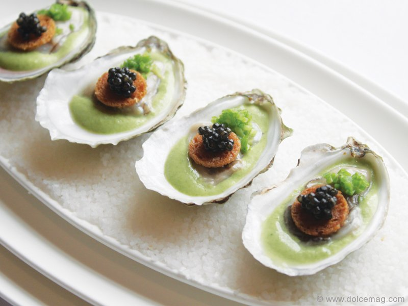 Peter oliver and michael bonacini illuminate your palate for Smoked oyster canape