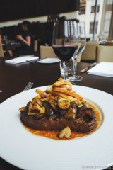 Steak Frites: Such a classic, timeless dish – a fantastic match with a bold red.