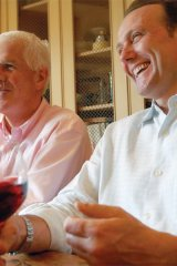 Peter Oliver and Michael Bonacini enjoy the moment with good company and wine.