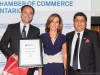 Sam Mizrahi, president & founder, Mizrahi Developments receives the Par Excellence Business Award from Madame Kareen Rispal, Ambassador of France to Canada, and Sanjay Tugnait, chief market maker IBM GBS & president FCCCO
