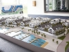 a scale model of the townhomes and condos of the marina village at friday harbour