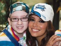 Actress and philanthropist Eva Longoria poses with Nicole Waddell at one of last year's events.