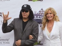 Gene Simmons and Shannon Tweed, honorary co-chairs of the Rally for Kids with Cancer event.