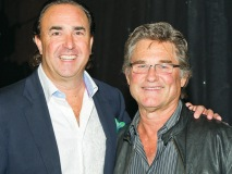 CEO and president of Solutions with Impact Inc. Joel Hock and television and film actor Kurt Russell come together to support a great cause.
