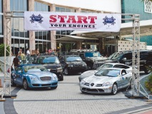 Participants get ready to rev their engines for the Rally for Kids with Cancer.