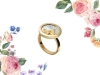2. From Carrera y Carrera comes this feminine Baile de Mariposas ring in yellow gold and mother-of-pearl | www.carreraycarrera.com