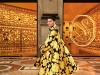 Fashion runs through Engelbert's blood. For Swarovski's opening installation of Wonderlab, she dazzles from head to toe in yellow, rocking a Richard Quinn coat, Giannico heels and, of course, Swarovski earrings | Photo Courtesy Of Swarovski