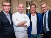 2. Bob Dorrance, Grand Cru host; chef Giannicola Colucci, Four Seasons Hotel, Toronto; Michael Cooper, Grand Cru host; Dr. Jonathan Irish, UHN | Photos by George Pimentel Photography