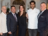 6. David Daniels, Grand Cru host; Dr. Vivek Rao, UHN; Kate Alexander Daniels, Grand Cru host; chef Richard Singh, Bosk, Shangri-la; Ron Pellerine, Shangri-la | Photos by George Pimentel Photography