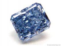 Guildhall\'s 0.63 Carat Radiant Cut Fancy Vivid Blue Diamond