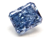 Guildhall\'s 0.63 Carat Radiant Cut Fancy Vivid Blue Diamond