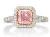 Guildhall\'s 0.29 Carat Radiant Cut Fancy Pink Argyle Diamond Ring