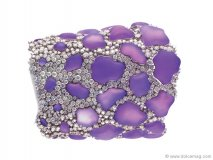 Add a little ultraviolet to your ensemble with a cuff that sparkles with purple stones and tiny diamonds www.chimento.it  Retailer- Rassi Jewellers