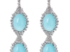 The Lupita earrings from Carla Amorim's Black Label Collection are crafted from white gold, turquoise and diamonds