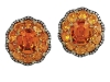 ivynewyorkJuicy gems mesh together to create orange delight in these scrumptious-looking studs  www.ivynewyork.com