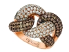 Like chocolate and vanilla, the dark and light stones that embellish this bangle create an irresistible blend www.levian.com  Retailer - Ben Moss Jewellers