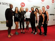 hard candy fitness From left to right: Tim Anderson, Hard Candy Fitness performance team member and one of Madonna's personal trainers; Marlyn Ortiz, Hard Candy Fitness performance team member and one of Madonna's personal trainers; Madonna; Nicole Winhoffer, Hard Candy Fitness performance team member and one of Madonna's personal trainers; Craig Smith, Hard Candy Fitness performance team member and one of Madonna's personal trainers; Donna Cyrus, group fitness director, Hard Candy Fitness; Kendra Kemerley, Hard Candy Fitness performance team member and one of Madonna's personal trainers; Mathias Naujocks from Berlin, Addicted to Sweat instructor