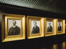 The four founders of Harley-Davidson, from left to right: Arthur Davidson, William Harley, Walter Davidson and William Davidson.