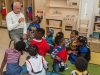 Harris Rosen visits children at the new Rosen Preschool at OCPS Academic Center for Excellence (ACE) in the Parramore District in Orlando   Photo courtesy of Rosen Hotels & Resorts