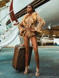 Don't let the warmer weather retire your fur. Pair it with a springtime ensemble to make a smouldering statement / Shoes, Sergio Rossi; suitcase, Louis Vuitton