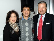 Ching-Kercher with Canadian figure skater Patrick Chan and Davis LLP partner Sir Justin Fogarty.