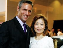 Actor John Nightingale and Helen Ching-Kircher at an exclusive automotive preview.