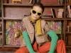 Blouse: VAN LAACK | Sunglasses: BOTTEGA VENETA | Earrings: YULYAFFAIRS | Veste: SOPHIE SCHNOOR | Stulps: COS | Leather pants: 8 BY YOOX | Shoes: MAX MARA | Photography by Oliver Rauh